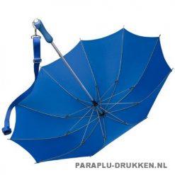 Luxe paraplu bedrukken LR-3 blauw open