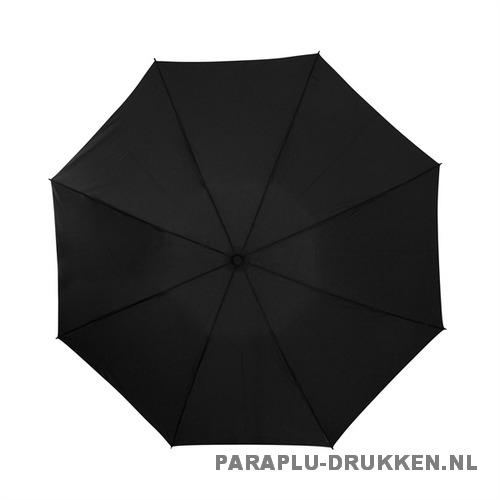 Opvouwbare paraplu insideout LGF-406 bedrukt met logo zwart