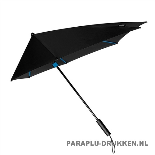 StorMaxi Display Impliva stormparaplu bedrukken speciale editie blauw