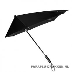 StorMaxi Impliva goedkoop bedrukken Special Edition stormparaplu met logo grijs