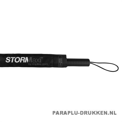 StorMaxi Impliva stormparaplu goedkoop bedrukken Special Edition stormparaplu grijs foedraal