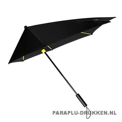 StorMaxi Impliva stormparaplu goedkoop bedrukt Special Edition neon geel met logo