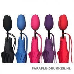 Tulp paraplu TLP-8 Assorti bedrukken hollands relatiegeschenk
