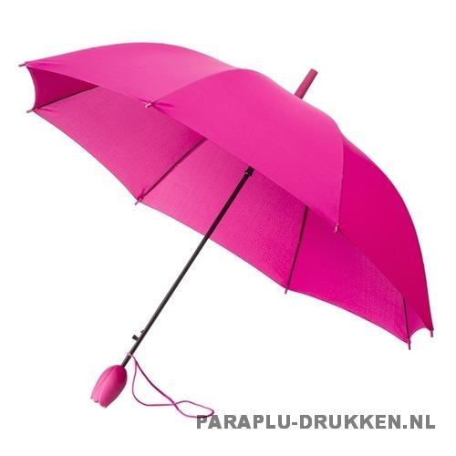 Tulp paraplu TLP-8 bedrukken roze