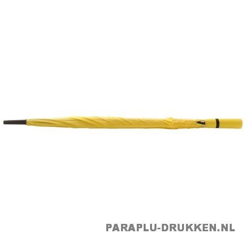 Paraplu goedkoop neon geel stok