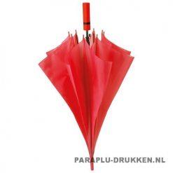 Paraplu goedkoop neon rood voorbeeld