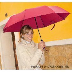 Paraplu goedkoop opvouwbaar klein bordeaux voorbeeld