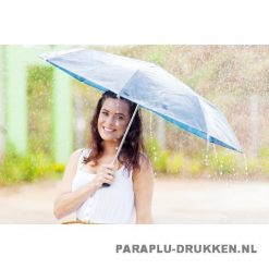 Paraplu goedkoop opvouwbaar luxe blauw voorbeeld