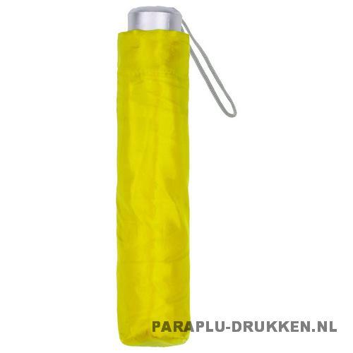 Paraplu goedkoop opvouwbaar opvallend geel hoes