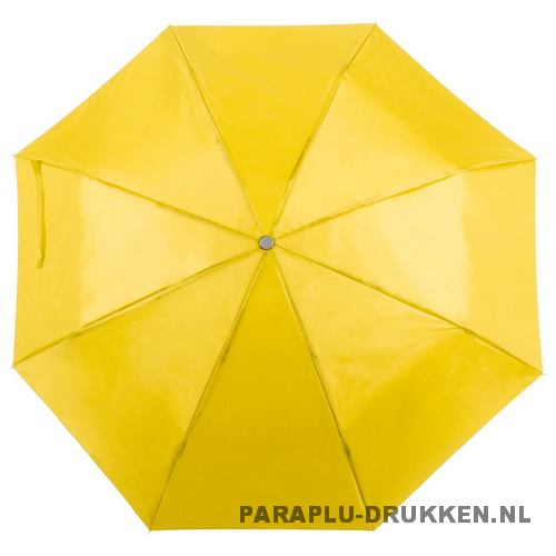 Paraplu goedkoop opvouwbaar opvallend geel