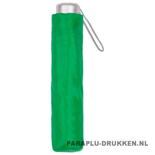 Paraplu goedkoop opvouwbaar opvallend groen hoes
