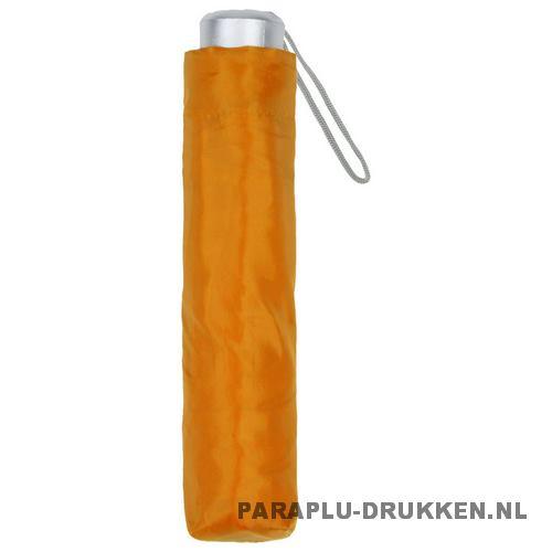 Paraplu goedkoop opvouwbaar opvallend oranje hoes