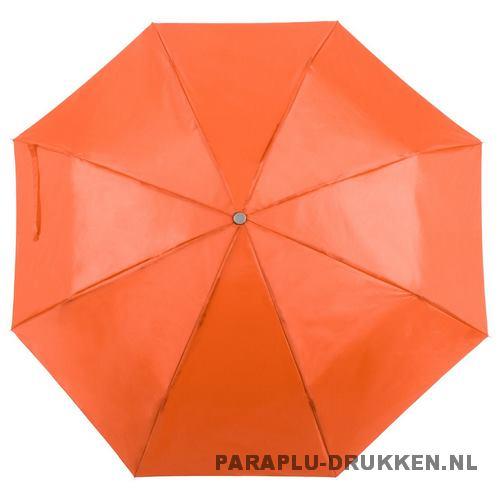 Paraplu goedkoop opvouwbaar opvallend oranje
