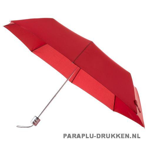 Paraplu goedkoop opvouwbaar opvallend rood stok