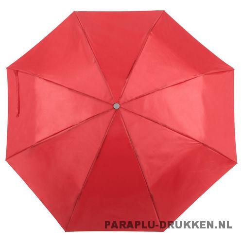 Paraplu goedkoop opvouwbaar opvallend rood