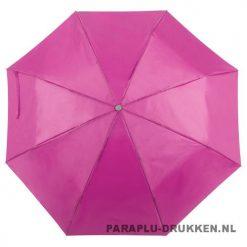 Paraplu goedkoop opvouwbaar opvallend roze