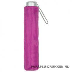 Paraplu goedkoop opvouwbaar opvallend roze hoes