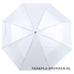 Paraplu goedkoop opvouwbaar opvallend wit