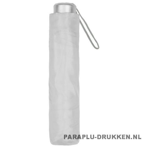Paraplu goedkoop opvouwbaar opvallend wit hoes