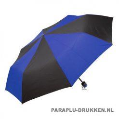Paraplu goedkoop opvouwbaar zwart duo blauw