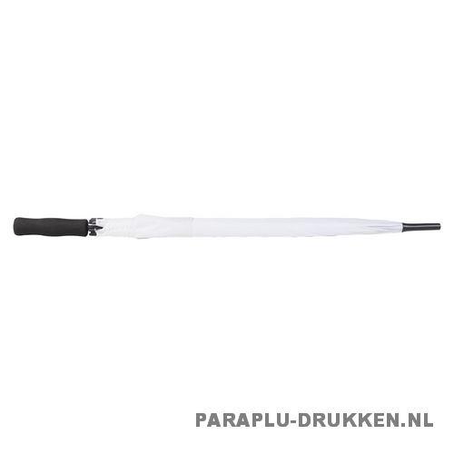 Paraplu goedkoop windproof wit stok